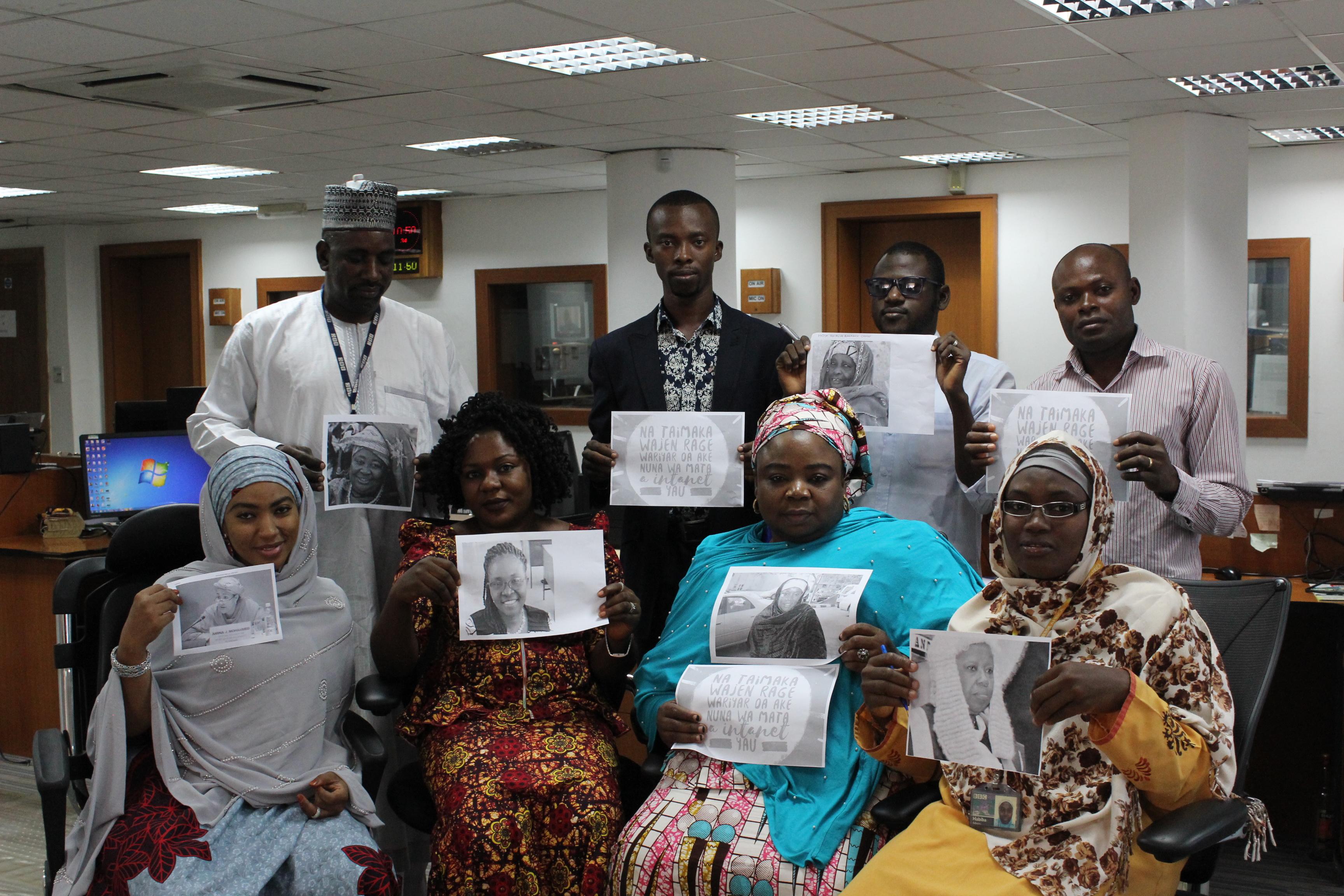 "Wiki Loves Women's team coordinates  ""BBC100 women 2016"" at BBC office in Abuja…"