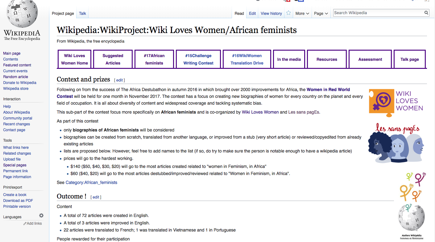 Contest on Wikipedia improves articles about Africa's Feminists