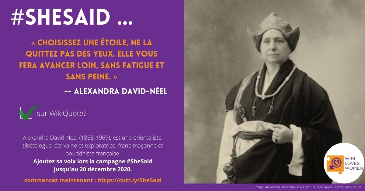 #SheSaid Campaign Gives Notable Women a Voice on Wikiquote